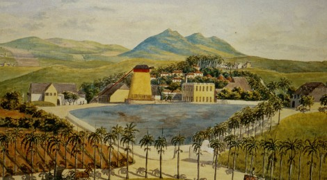 Suikerplantage Constitution Hill op St. Croix, ca. 1840. Bron: www.slaveryimages.org, compiled by Jerome Handler and Michael Tuite