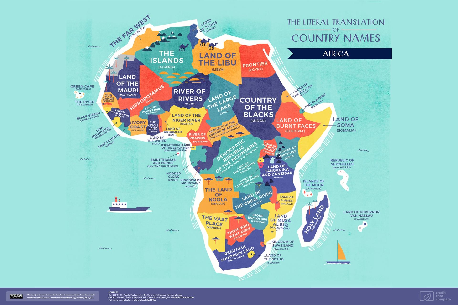 De namen van Afrikaanse landen